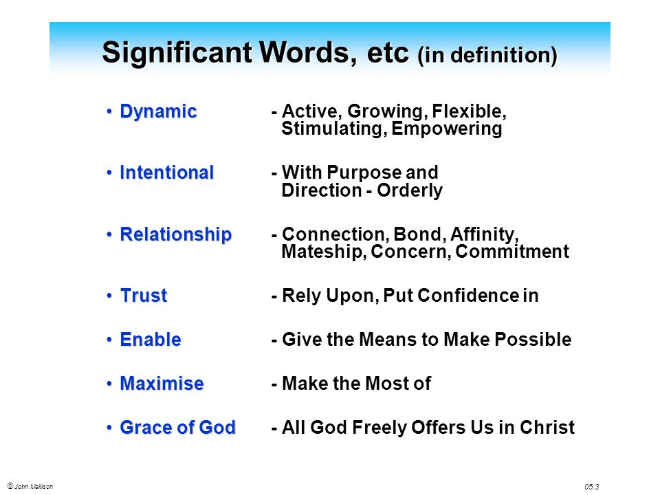trustful relationship meaning definition