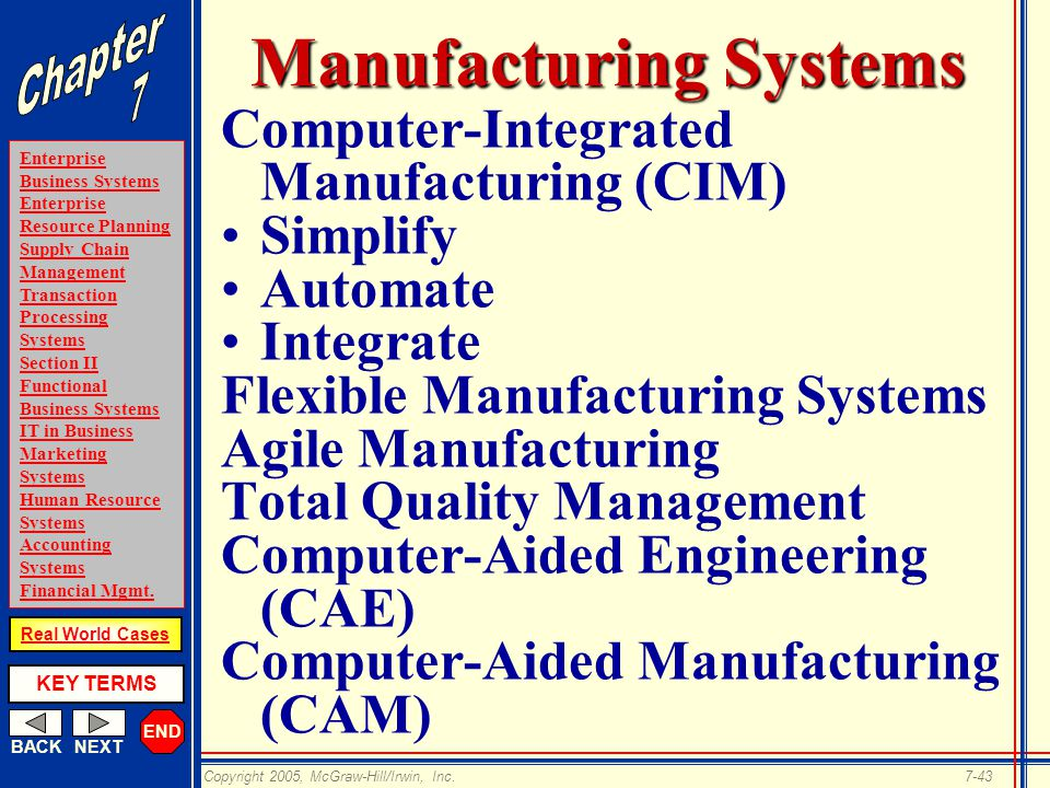 explain briefly the computer integrated manufacturing Computer-integrated manufacturing (cim) is the manufacturing approach of  using computers to  cim & production control system: computer integrated  manufacturing is used to describe the complete automation of a manufacturing   privacy policy about wikipedia disclaimers contact wikipedia developers  cookie.