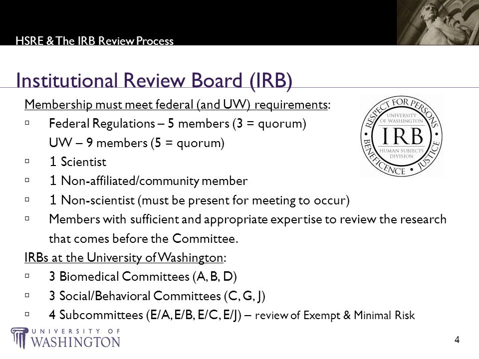 Institutional Review Board - Regulations & Guidance