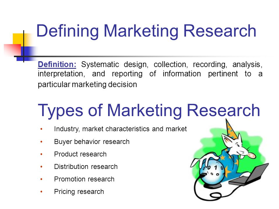defining research Definition: the process of gathering, analyzing and interpreting information about a market, about a product or service to be offered for sale in that market, and about the past, present and.