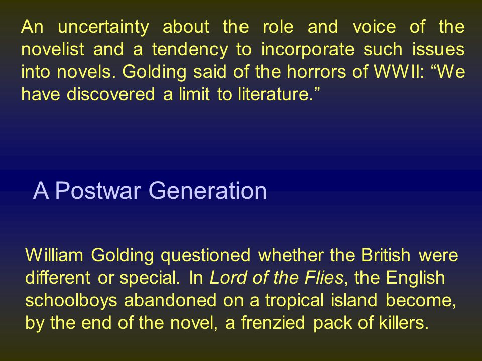 the basic evil in man in lord of the flies by william golding Lord of the flies by sir william golding  what concerns golding in lord of the flies is the nature  and the basic knowledge of good and evil people will.
