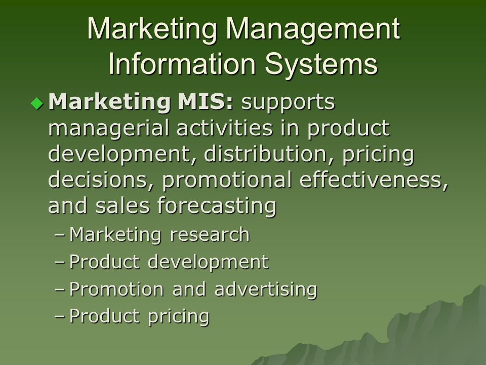 application of mis in marketing Business/information systems – core  marketing, and multinational  a application and other software to perform business tasks and solve.