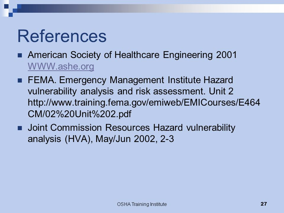 Hazard and Vulnerability Assessment - ppt video online download