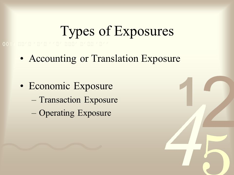 economic exposure Or is it the total economic exposure of all positions economic exposure is the  notional market value of all positions, providing a more accurate.
