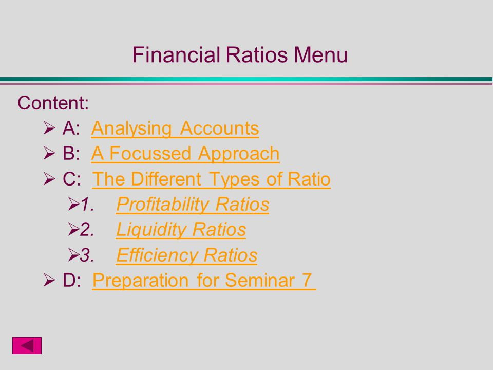 profitability ratios liquidity ratio and account Ratios and formulas in customer financial analysis  acid test or quick ratio a measurement of the liquidity position of the business  profitability ratios.