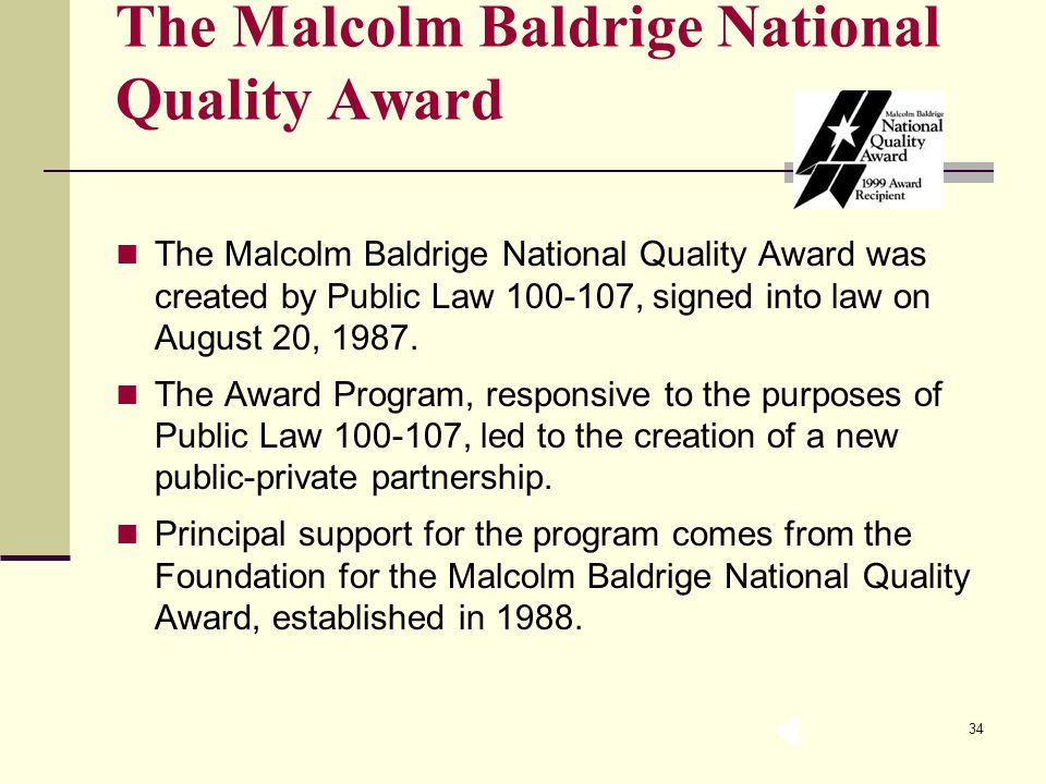 the foundation of the malcolm baldrige national quality award Official website indonesian quality award foundation ( yayasan indonesian quality award )  (malcolm baldrige criteria for performance excellence) sistem.