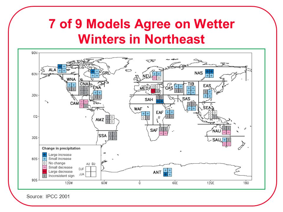 7 of 9 Models Agree on Wetter Winters in Northeast