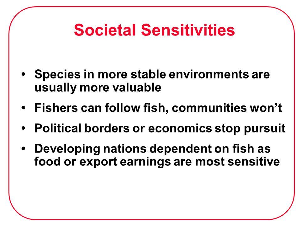 Societal Sensitivities