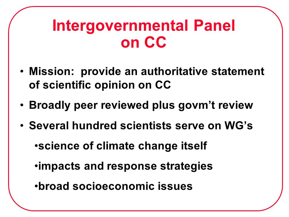 Intergovernmental Panel on CC