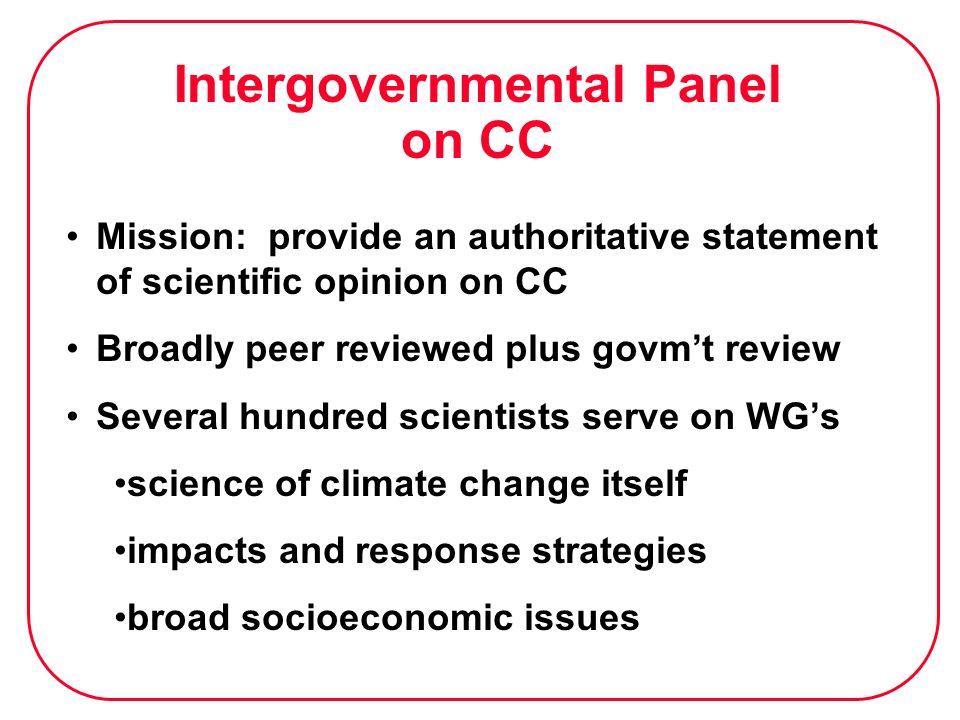Intergovernmental Panel on CC