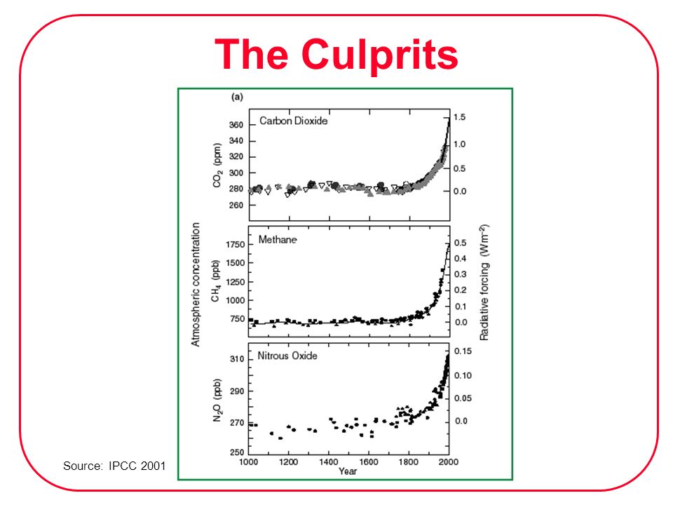 The Culprits Source: IPCC 2001