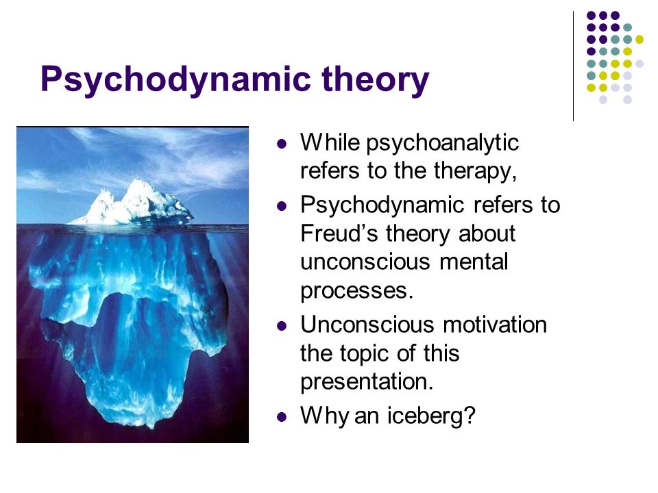 psychodynamic theory Psychodynamic approaches are those that assume that the human personality development and disturbances is rooted in the interplay or dynamics of.