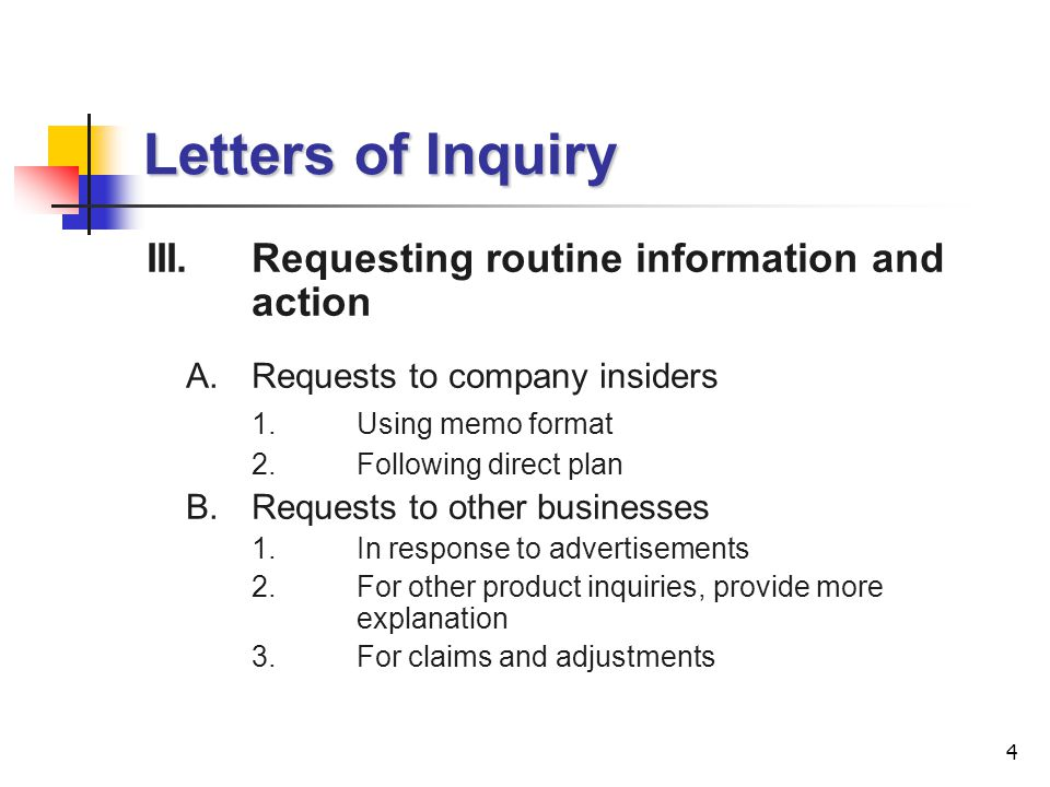Lecture 8 Letters of Inquiry ppt download