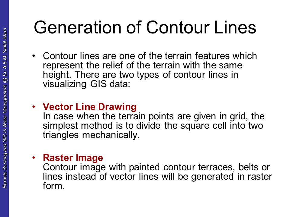 Types Of Line Drawing Algorithm : Digital terrain mapping and analysis ppt download