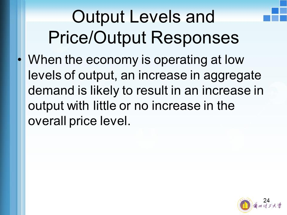 Output Levels and Price/Output Responses