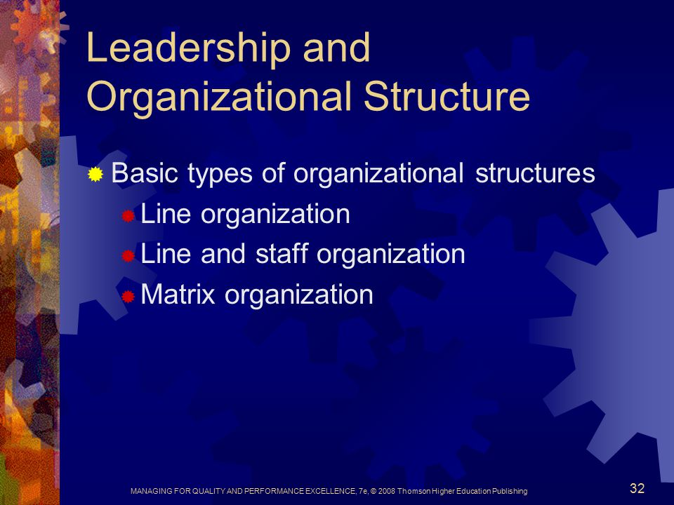Leadership and Organizational Structure