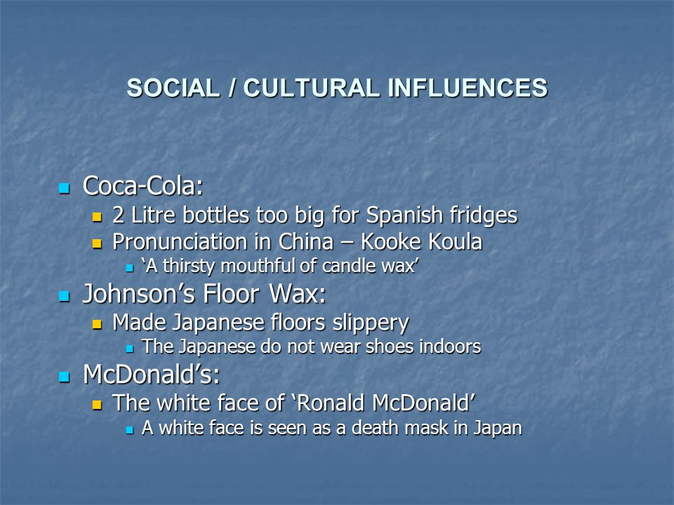 cultural influences on japan Cultural impact on customer satisfaction and these cultural influences usually translate to different due to japan's economic factor such as.