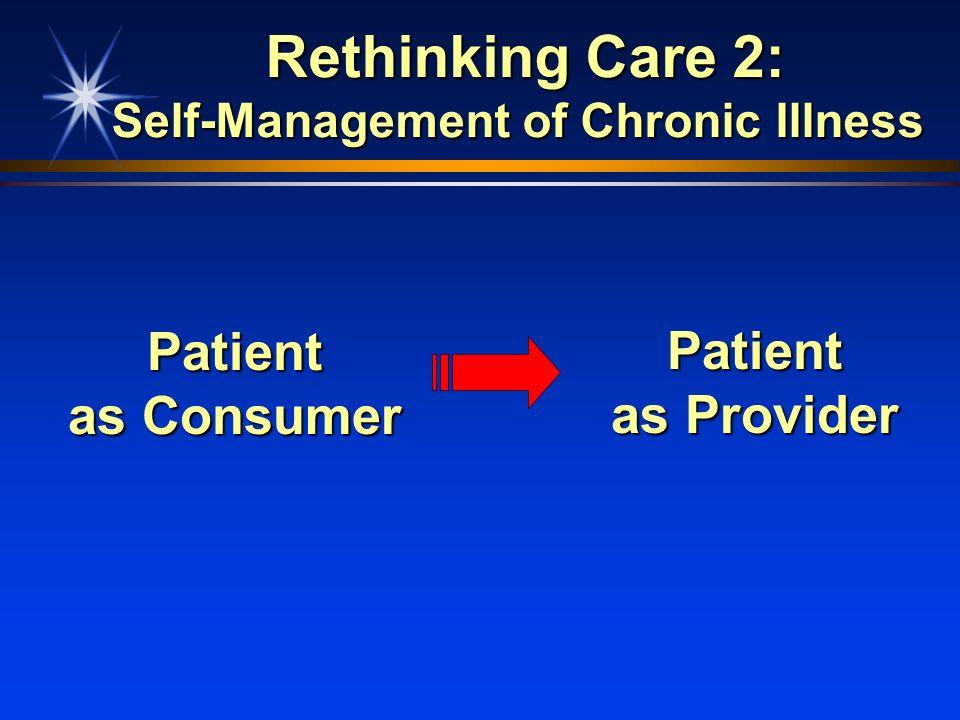 Rethinking Care 2: Self-Management of Chronic Illness
