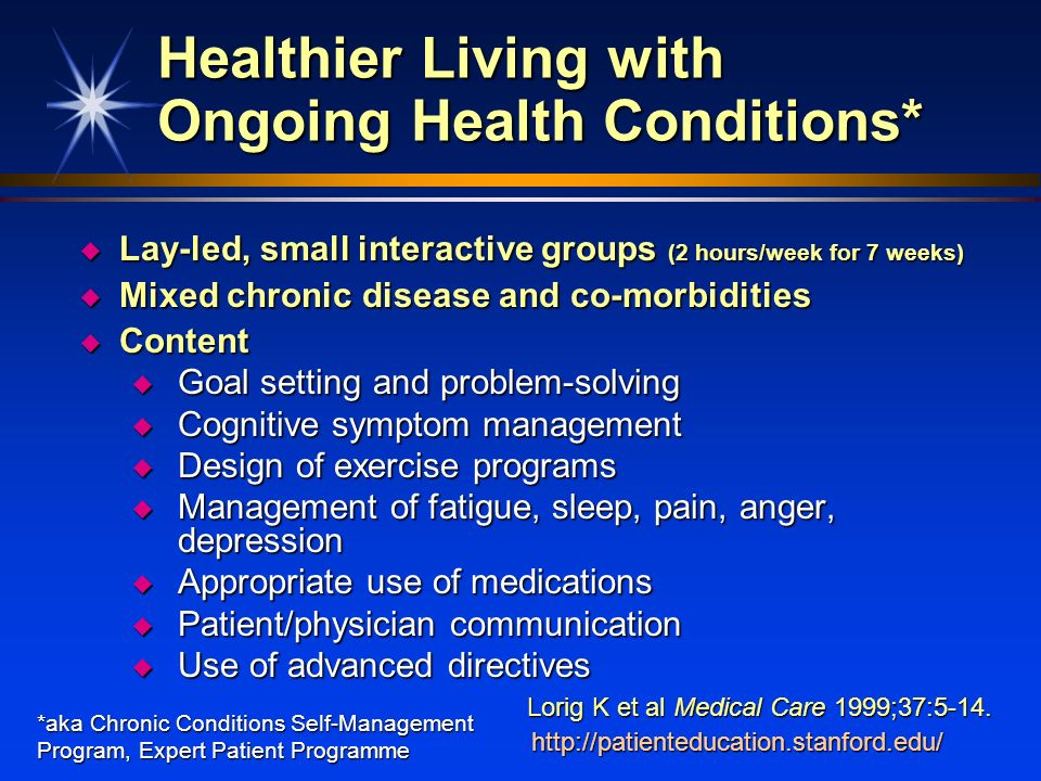 Healthier Living with Ongoing Health Conditions*