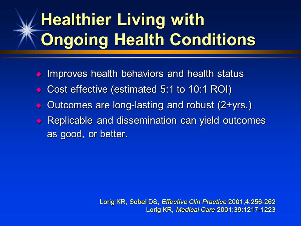 Healthier Living with Ongoing Health Conditions