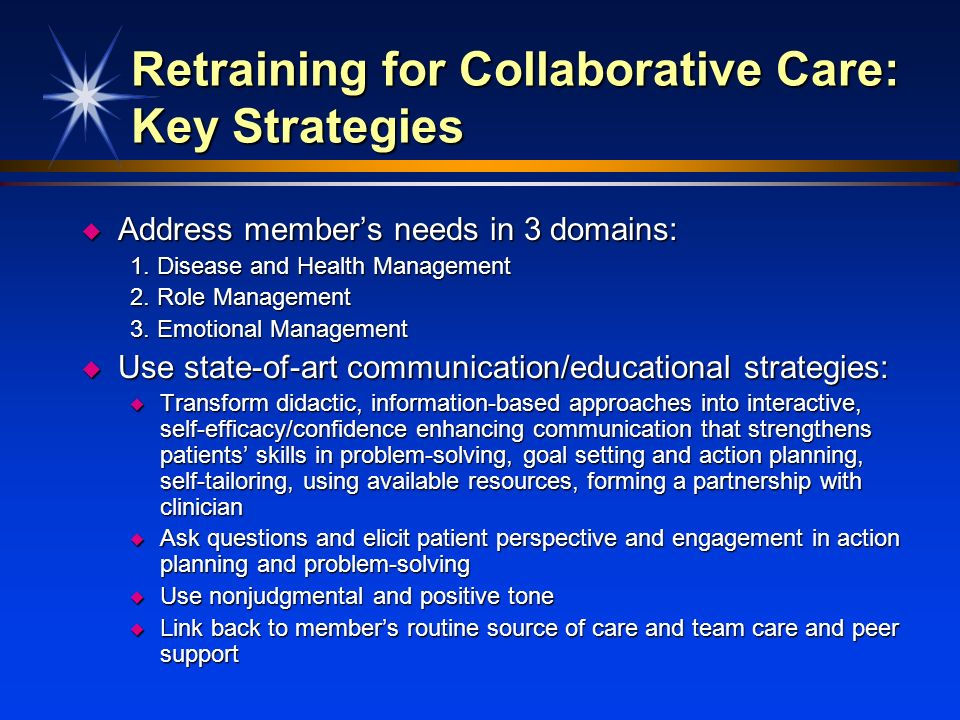 Retraining for Collaborative Care: Key Strategies