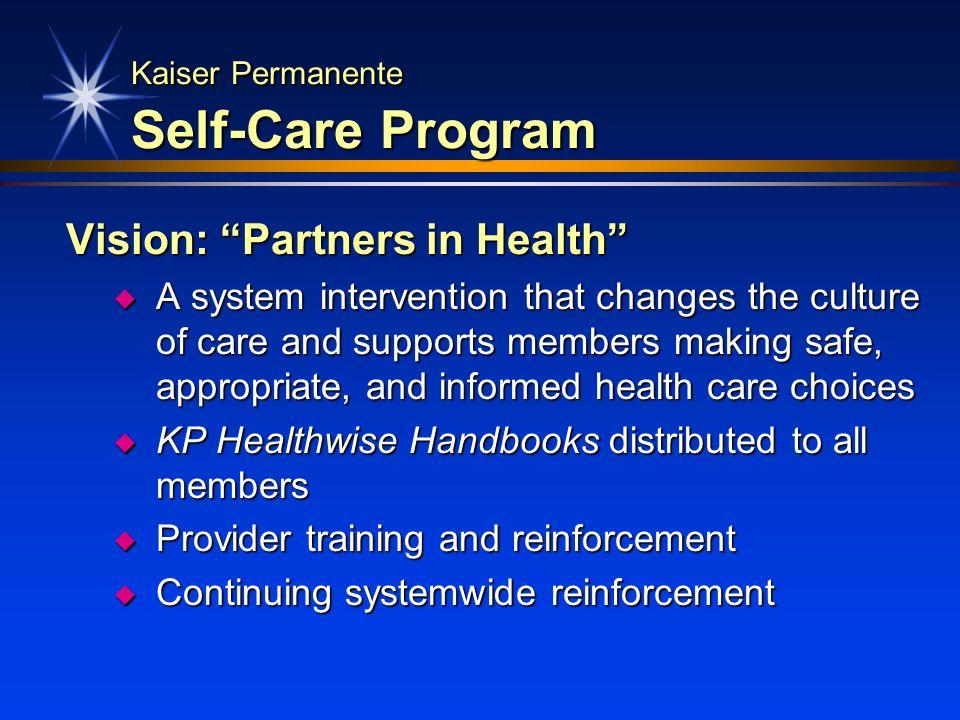 Kaiser Permanente Self-Care Program