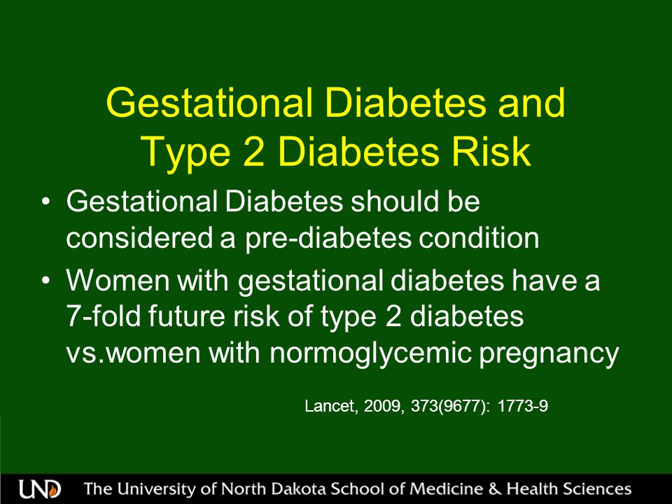 Gestational Diabetes and Type 2 Diabetes Risk