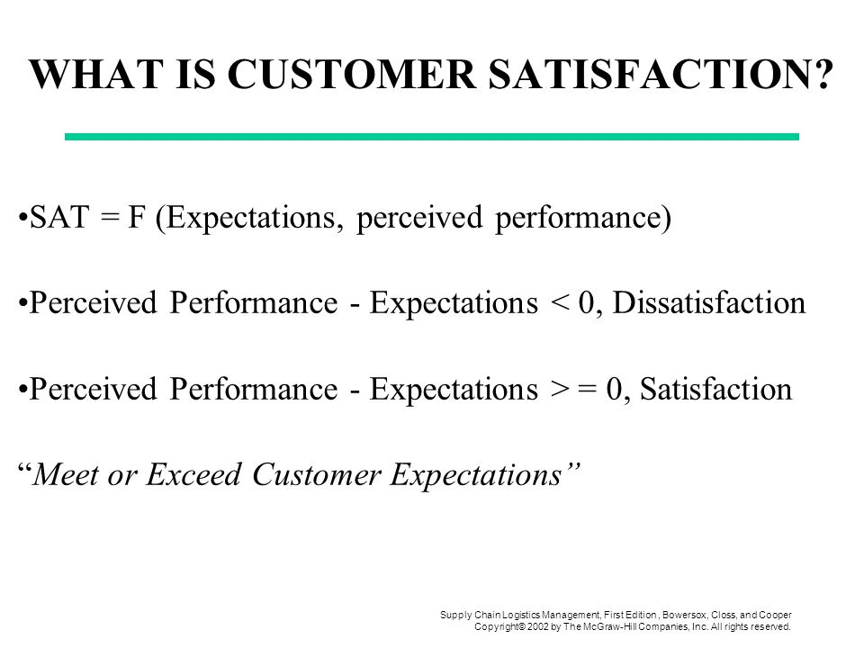 Use 'customer satisfaction' in a Sentence