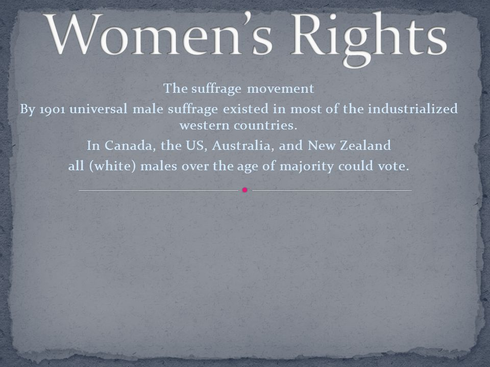 the women s rights movement The problem of women's place in the society has been studied for several centuries, and it is still relevant at the beginning of the 21st century the history of the xx century shows us an important example of women's rights movement, which managed to make great changes in the role and place of women in the life of the.