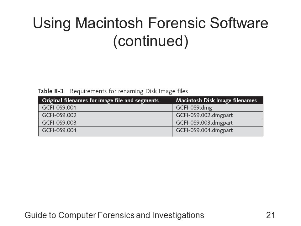mac forensics Dear eforensics readers we've just finished our special edition devoted to windows & mac forensicsthe main reason why this issue is so important, is that ios and mac's are in general becoming more and more popular nowadays.
