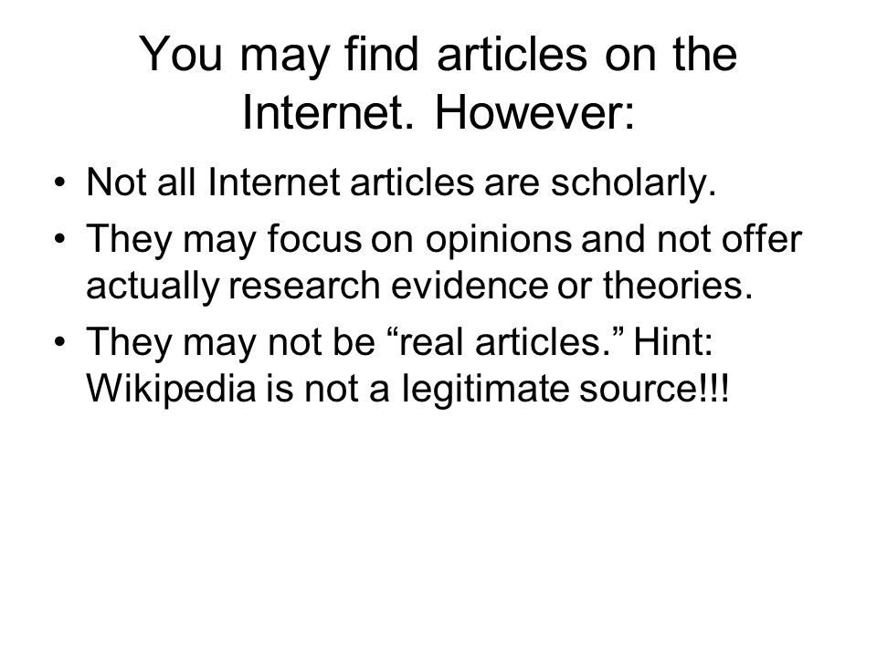 You may find articles on the Internet. However: