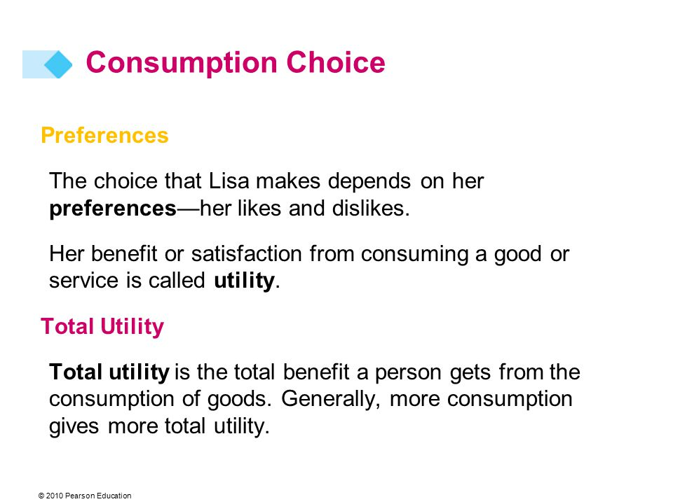 Consumption Choice Preferences