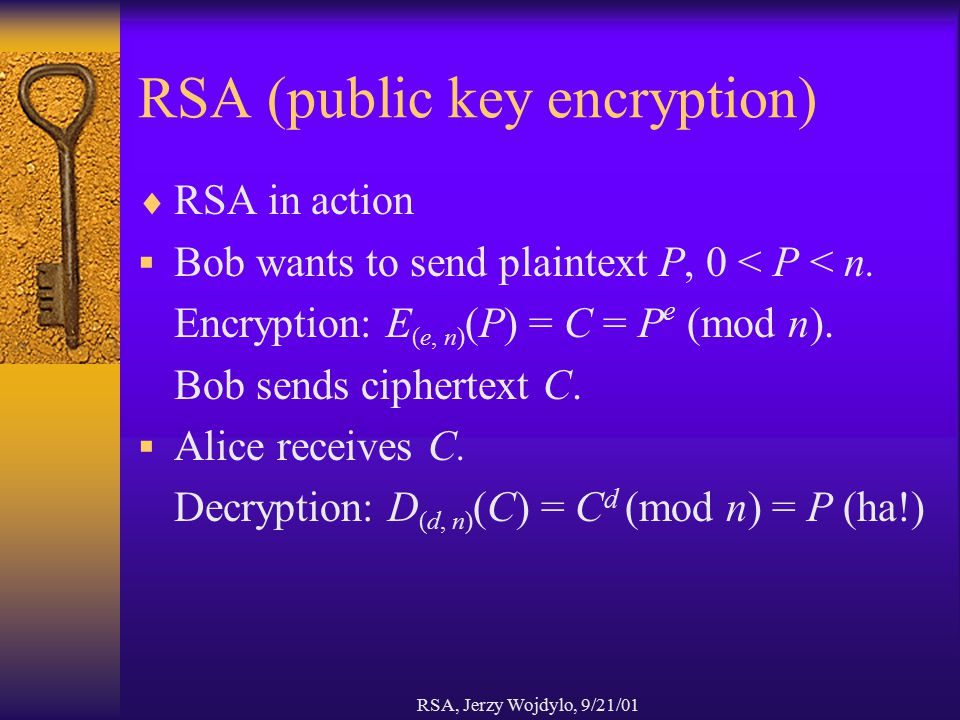 RSA (public key encryption)