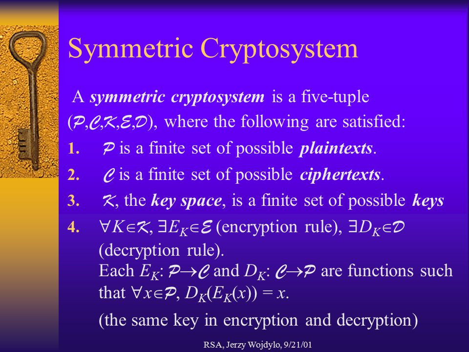 Symmetric Cryptosystem