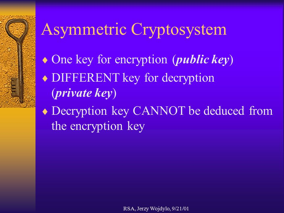 Asymmetric Cryptosystem