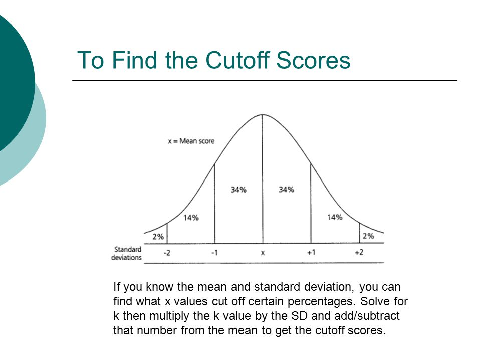 Psy 307 statistics for the behavioral sciences ppt video to find the cutoff scores ccuart Choice Image