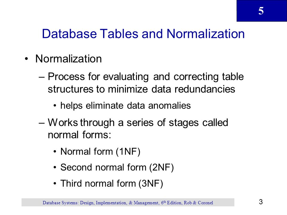 Normalization of database tables ppt video online download for Table normalization
