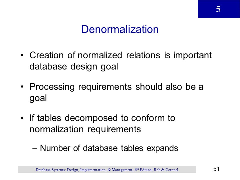 normalization to database
