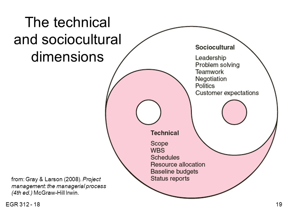 socio cultural dimensions of project management The total project period for an application submitted in response to this pa may  not  what are the causal pathways that lead from the sociocultural environment  to  in the management of health conditions, considering the influence of social, .