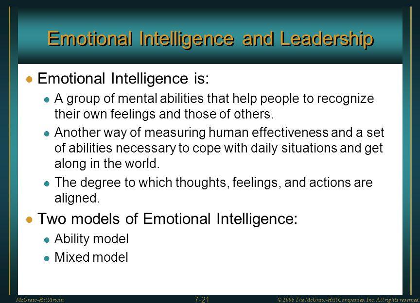 emotional intelligence and leadership effectiveness essay Emotional intelligence and effective leadership  fully explain emotional intelligence,  that leaders must be aware of to increase leadership effectiveness.