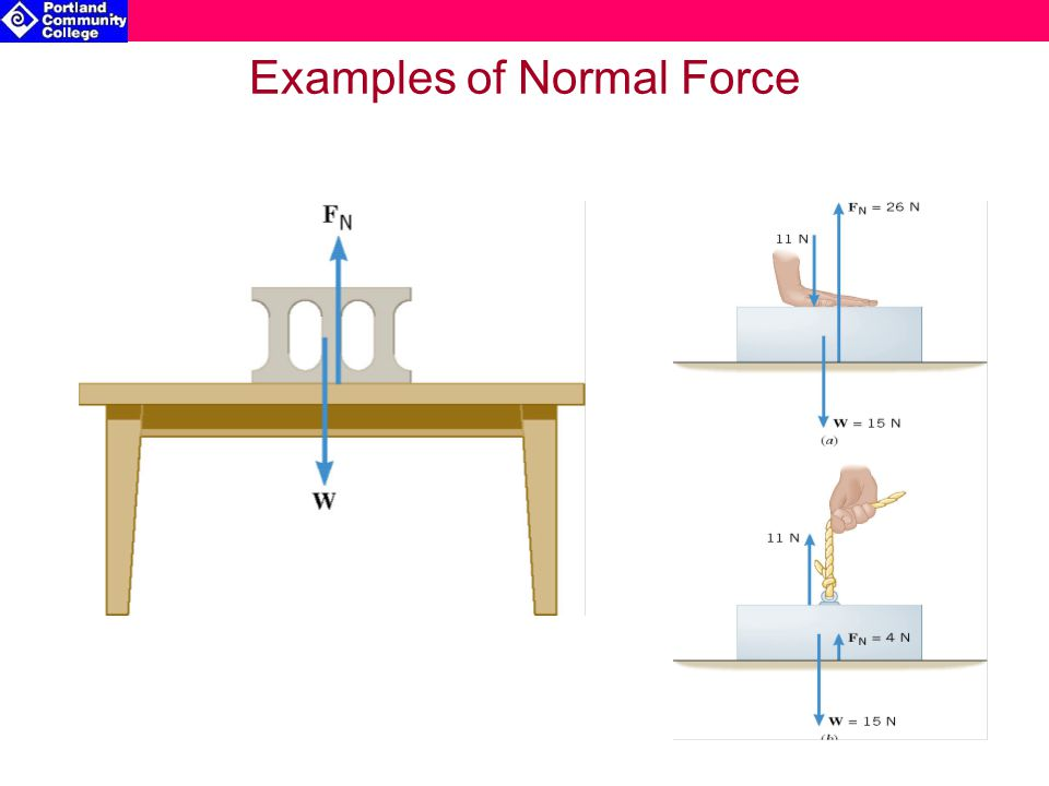 Examples of Normal Force