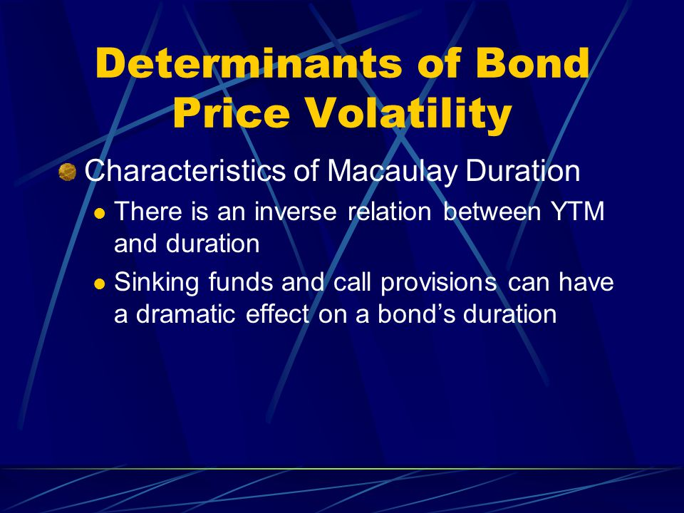 relationship between price volatility and maturity