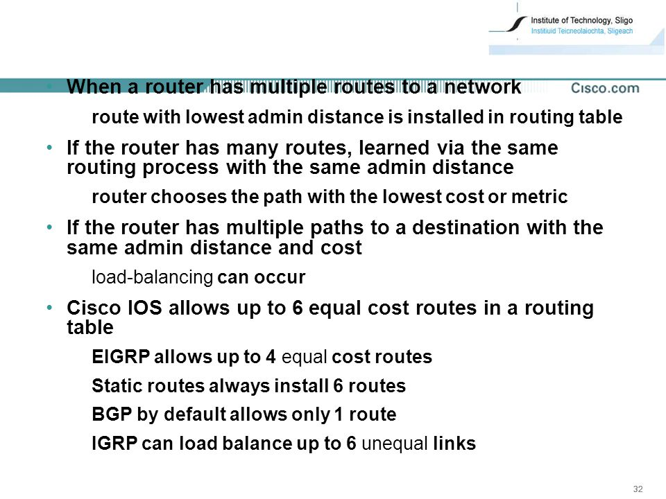 Ccna 2 v31 module ppt video online download when a router has multiple routes to a network keyboard keysfo Gallery
