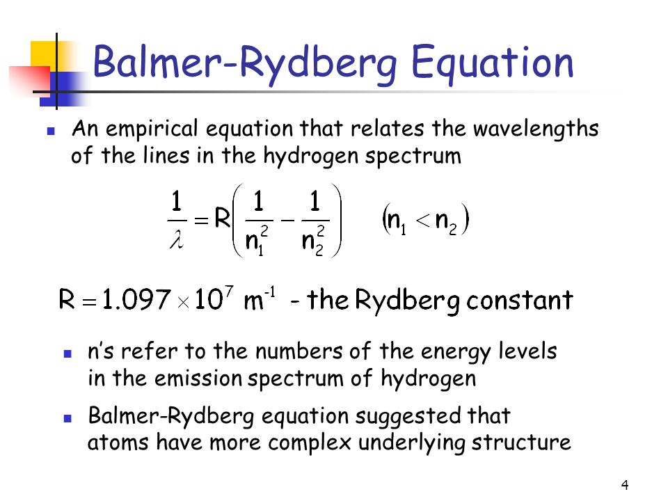 Balmer-Rydberg Equation