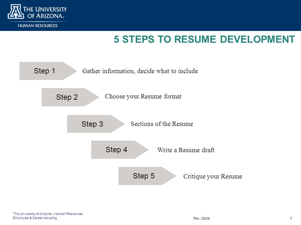 5 steps to resume development