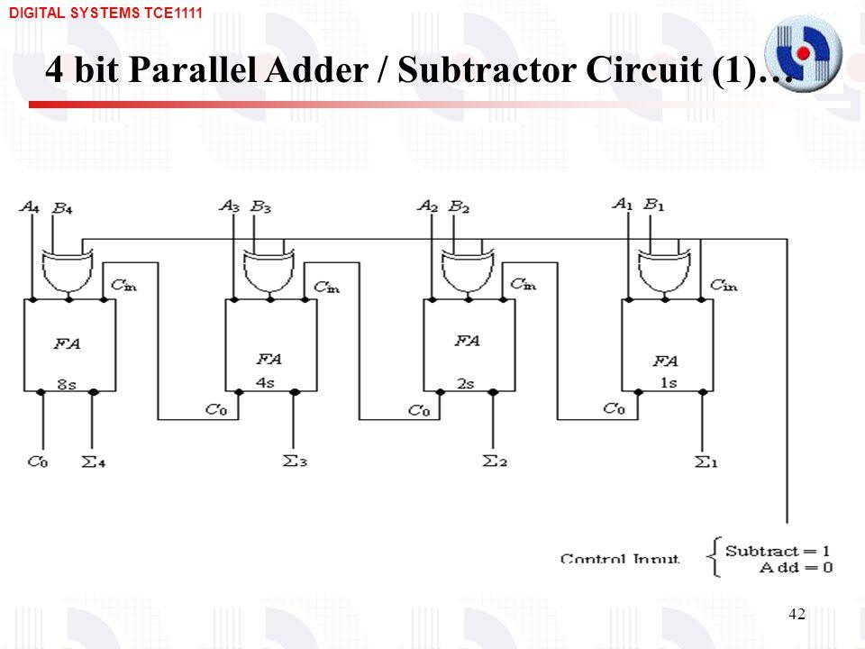 logic diagram 4 bit adder design of arithmetic circuits – adders, subtractors, bcd ...