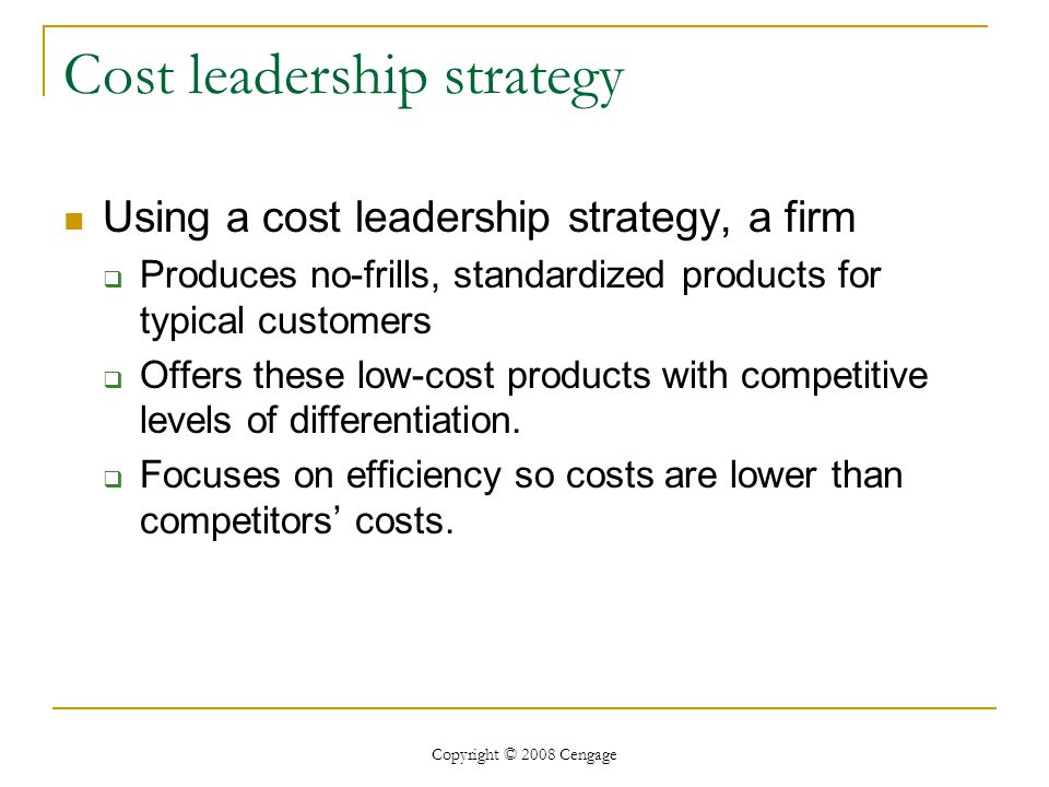 low cost strategies a failed business What are effective strategies to defeat a low cost, high volume competitor, whose product is lower quality update cancel what can be the objectives of a business that follows a low cost strategy do push or pull strategies in operations affect the cost of the products.