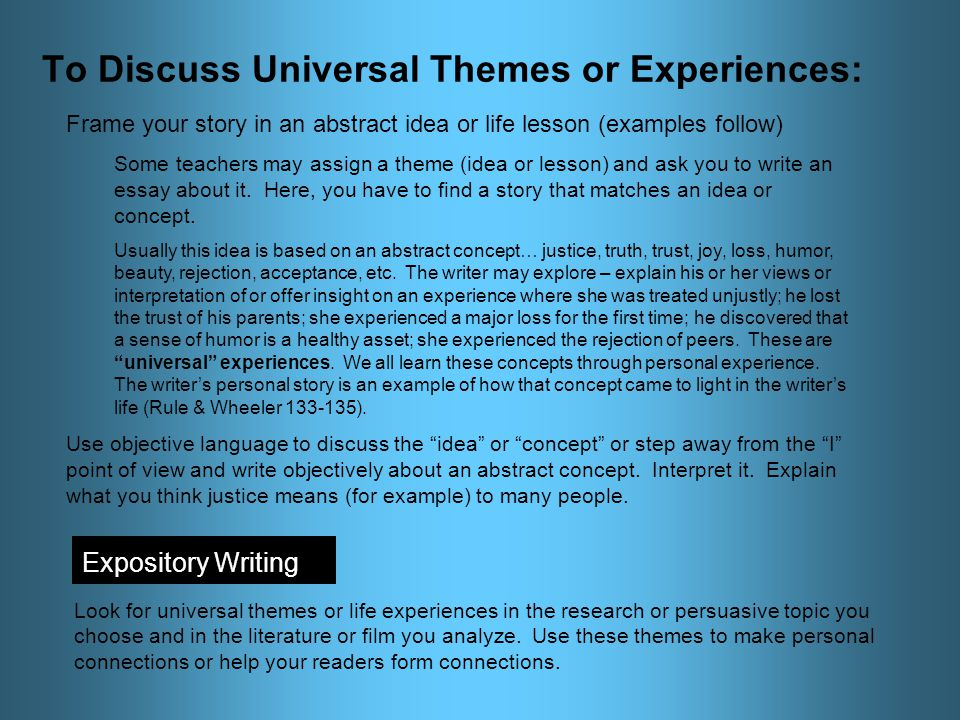 essay on explaining concept