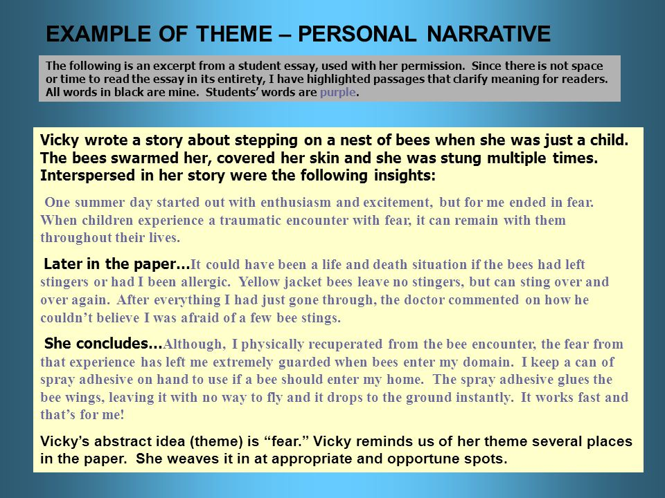 a composition workshop designed by sue stindt ppt  example of theme personal narrative