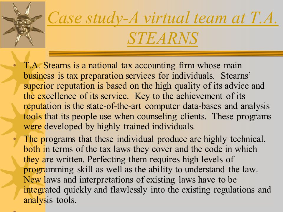 Virtual Team Successes and Stresses – A Case Study
